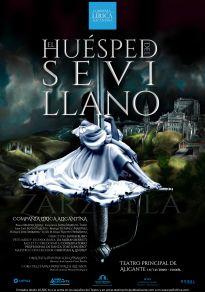 Cartel de la película El Huésped del Sevillano - Zarzuela