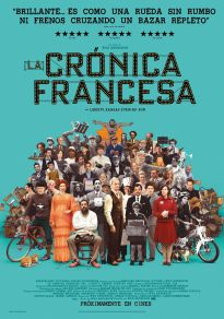 Cartel de la película La crónica francesa (del Liberty, Kansas Evening Sun)