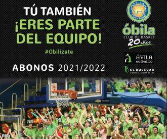 Abonos 2021/2022 Óbila Club de Basket